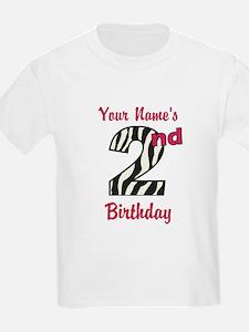 2nd Birthday Zebra - Personalized! T-Shirt