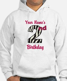 2nd Birthday Zebra - Personalized! Hoodie