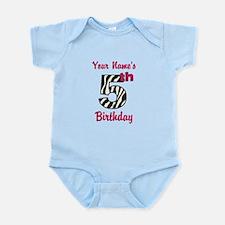 5th Birthday Zebra - Personalized! Body Suit