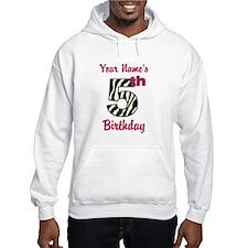 5th Birthday Zebra - Personalized! Hoodie