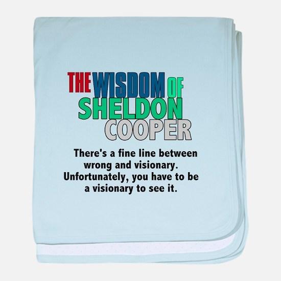 Sheldon Cooper's Visionary Quote baby blanket
