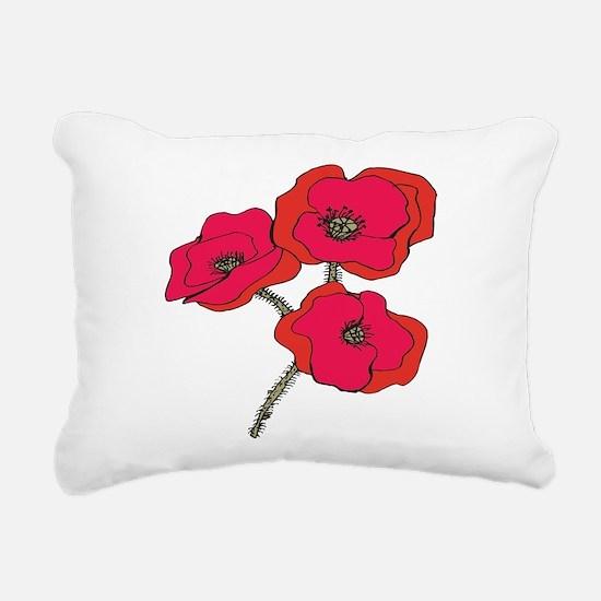 poppy.png Rectangular Canvas Pillow