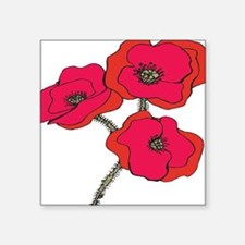 "poppy.png Square Sticker 3"" x 3"""