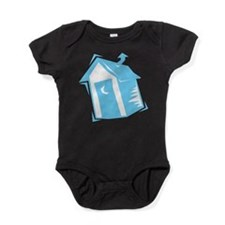 outhouse,blue.png Baby Bodysuit