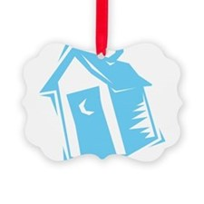 outhouse,blue.png Ornament