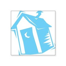 "outhouse,blue.png Square Sticker 3"" x 3"""