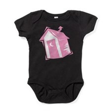 outhouse,pink.png Baby Bodysuit