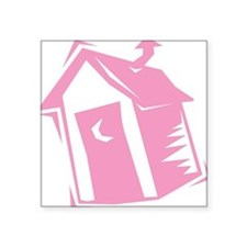 "outhouse,pink.png Square Sticker 3"" x 3"""