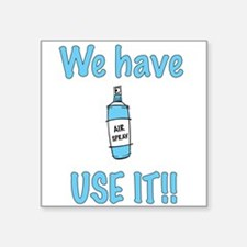 "spray,use-it,blue.png Square Sticker 3"" x 3"""