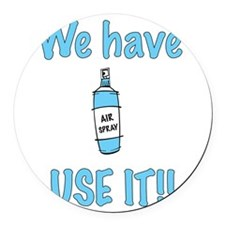 spray,use-it,blue.png Round Car Magnet