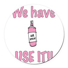 spray,use-it,pink.png Round Car Magnet