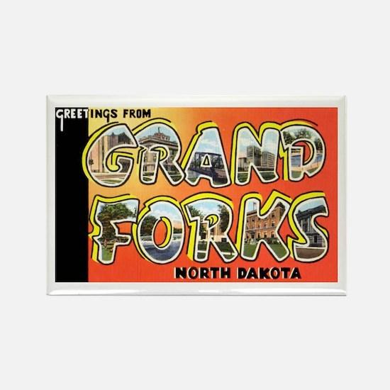 Grand Forks North Dakota Rectangle Magnet