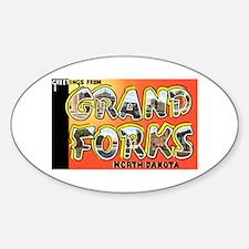 Grand Forks North Dakota Oval Decal