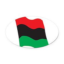 african-flag.png Oval Car Magnet