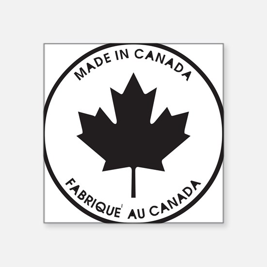 "made-in-canada,black.png Square Sticker 3"" x 3"""