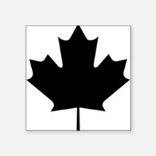 "maple-leaf,black.png Square Sticker 3"" x 3"""