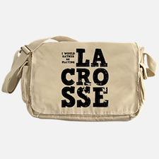 'Playing Lacrosse' Messenger Bag