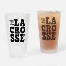 'Playing Lacrosse' Drinking Glass