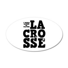 'Playing Lacrosse' Wall Decal