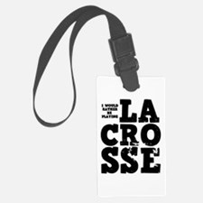 'Playing Lacrosse' Luggage Tag