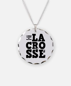 'Playing Lacrosse' Necklace