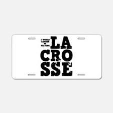 'Playing Lacrosse' Aluminum License Plate