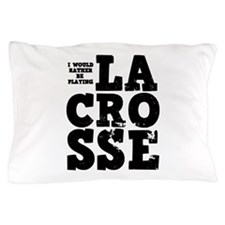 'Playing Lacrosse' Pillow Case