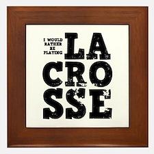 'Playing Lacrosse' Framed Tile