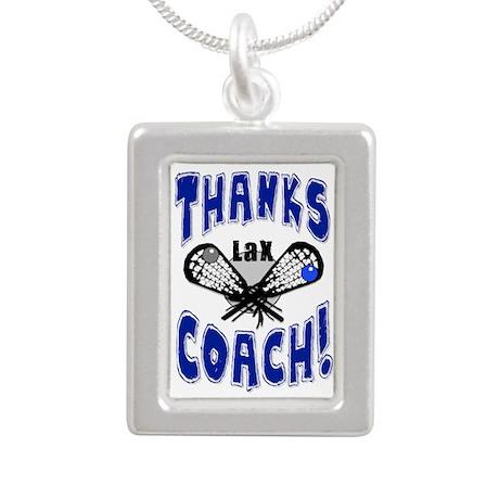 Thanks LAX Coach! Silver Portrait Necklace