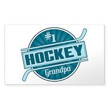 #1 Hockey Grandpa Decal