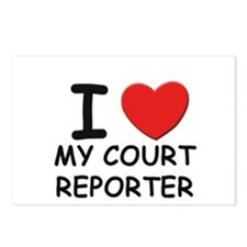 I love court reporters Postcards (Package of 8)