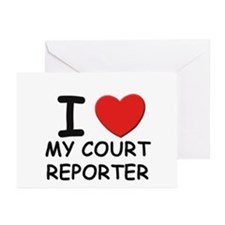 I love court reporters Greeting Cards (Package of