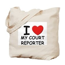 I love court reporters Tote Bag