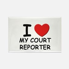 I love court reporters Rectangle Magnet