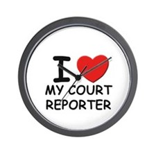 I love court reporters Wall Clock