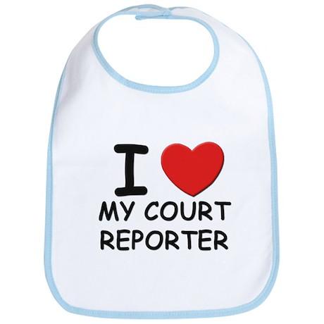 I love court reporters Bib