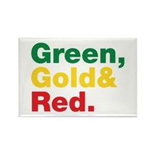 Green, Gold and Red. Rectangle Magnet