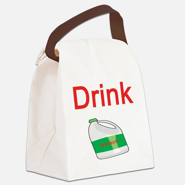 drink-bleach.png Canvas Lunch Bag