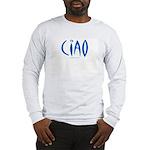 Ciao (Blue) - Grey Long Sleeve T-Shirt