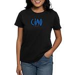 Ciao (Blue) - Women's Black T-Shirt