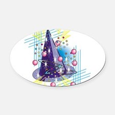 wizards-hat,png.png Oval Car Magnet