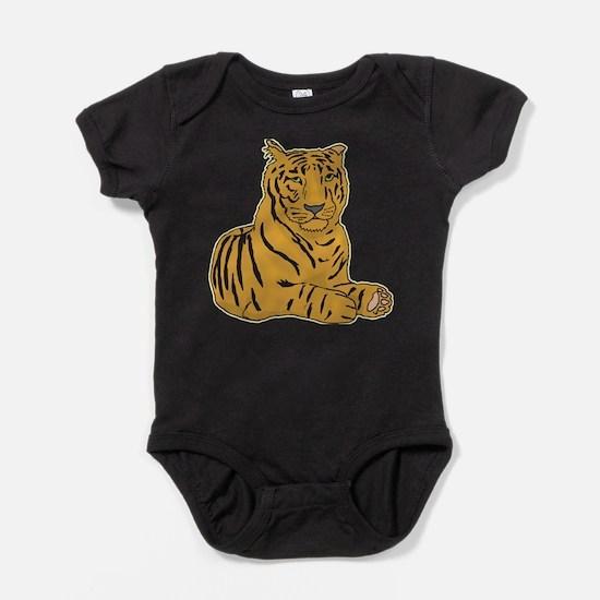 tiger-laying,png.png Baby Bodysuit