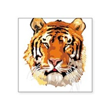"tiger-head3,png.png Square Sticker 3"" x 3"""