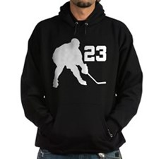 Hockey Player Number 23 Hoodie