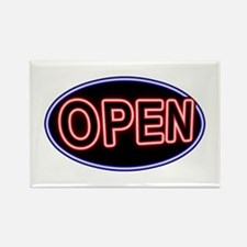 Neon Open (Oval) Rectangle Magnet