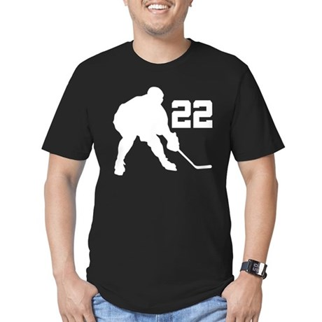 Hockey Player Number 22 Men's Fitted T-Shirt (dark