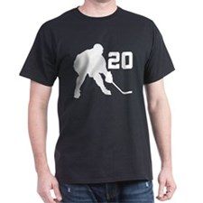 Hockey Player Number 20 T-Shirt