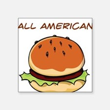 "hamburger,all-american.png Square Sticker 3"" x 3"""