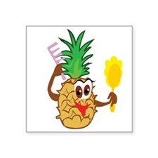 """pinapple.png Square Sticker 3"""" x 3"""""""
