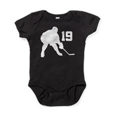 Hockey Player Number 19 Baby Bodysuit
